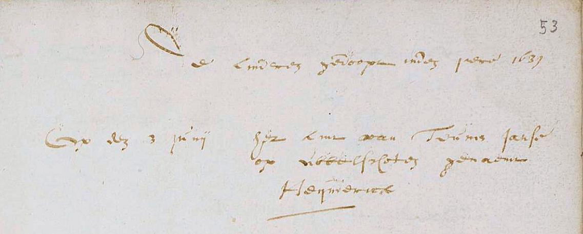 Doop van Hendrik Teunisz. in Renswoude 1639